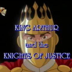 Артур в шлеме с короной.