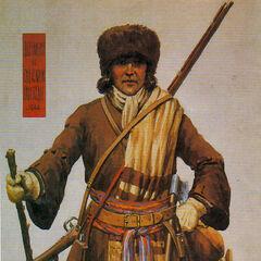 Офицер в зимней форме, 1666 год.