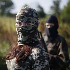 Бойцы женского подразделения батальона