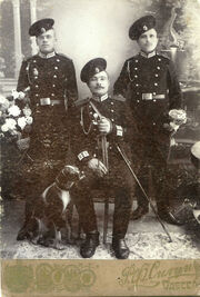 Бравые стрелки 16-го Стрелкового Императора Александра ІІІ полка, сфотографировавшиеся в Одессе у фотографа Р.Ф. Силина