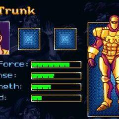 Профиль Транка в видеоигре.