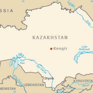 Кенгир на карте Казахстана.