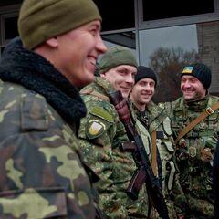 Бойцы воссозданного батальона