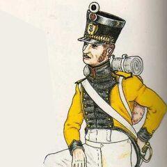 Барабанщик фузилеров 3-го полка, 1815 г.