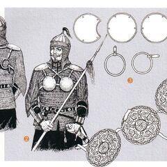 Круглые кыпчакские зерцала носились вплость до XVIII века.