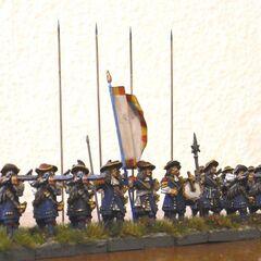 Военно-историческая миниатюра (знамя изображено ошибочно).