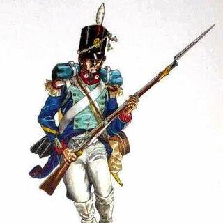 Фузилер 7-го пехотного батальона, 1812 г.