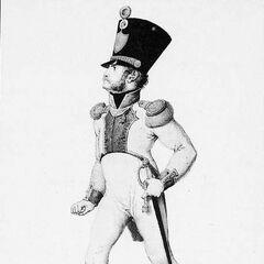 Офицер 4-го линейного полка, 1814 г.
