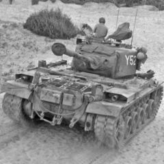 M46 1-го танкового батальона морской пехоты. Корея, 8 июля 1952 года.