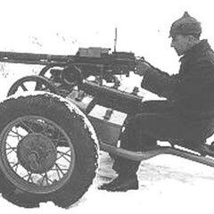 ДШК, установленный на лафет 45-мм пушки.