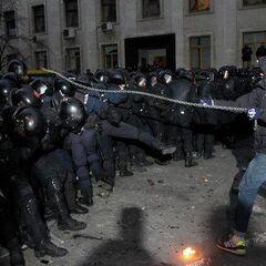 События на Банковой 1 декабря 2013 года.