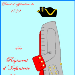 Униформа с 1729 по 1734 года.