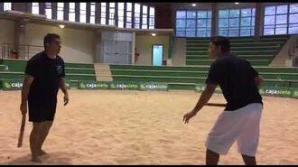 Тренировка с толедо (толете) с инструктором Palmero Ramos