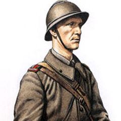 Младший сержант 1-ого пехотного полка 1-й дивизии, Франция, 1940 год.