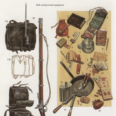 Принадлежности для винтовки и личное имущество пехотинца КША.