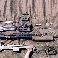 SA-80 в разобранном виде.