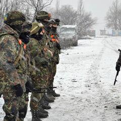 Бойцы 101-й бригады в зоне проведения АТО, г. Дебальцево, 2014 г.