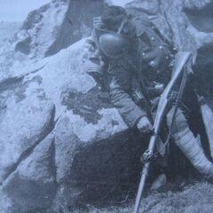 Мертвый солдат Железного полка на высоте 1212.