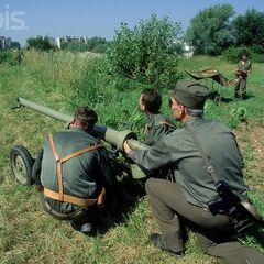 Противотанковый расчёт Любляна, 2 июля 1991.
