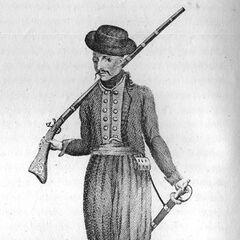 Бокезец, т. е. житель Боки Котороской (сегодня является частью Черногории), 1-я четверть XIX века. Опубликована в 1836 г., хотя должна изображать воина начала XIX века.
