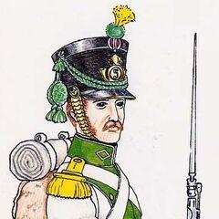 Вольтижер 5-го линейного полка, 1812 г.