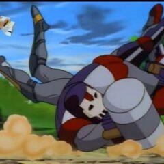 Хэммер падает с коня.