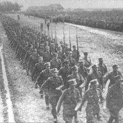 Марш войск после смотра.