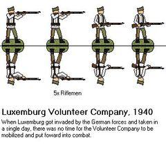 Люксембургские волонтеры, 1940 г.