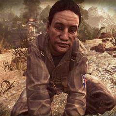 Норьега (в игре Call of Duty) снимает наручники с <a class=