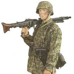 Пулемётчик 12-й дивизии Гитлерюгенд.