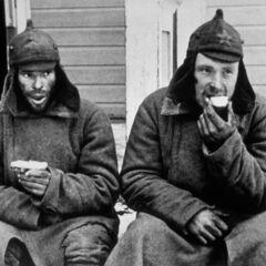 Солдаты РККА в финском плену в Советко-финской войне.