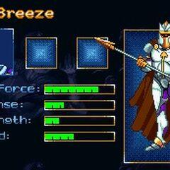 Профиль Бриза в видеоигре.