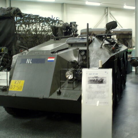 DAF YP-408 в музее DAF Эйндховен, Нидерланды.
