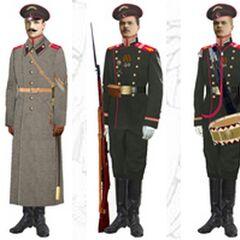 Нижние чины в парадной и обыкновенной форме, 1907 - 1914 гг.