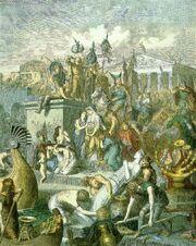 Heinrich Leutemann, Plünderung Roms durch die Vandalen (c. 1860–1880)