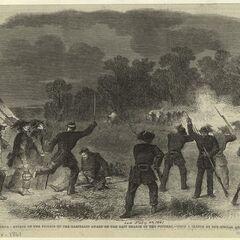 Нападение Гвардии Гарибальди на сторожевую заставу на восточной рукав реки Потомака.