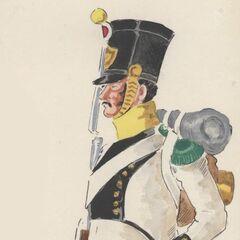 Вольтижер 3-го линейного полка, 1813 г.