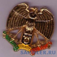 Эмблема ВВС на фуражку (берет): гриф, держащий в когтях <a href=