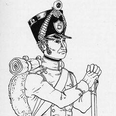 Фузилер 5-го линейного полка, 1812 г.