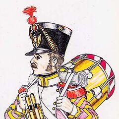 Барабанщик гренадеров 8-го полка, 1815 г.