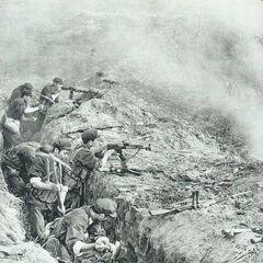 В окопах на передовой, Вьетнамо-китайская война, 1979 год.