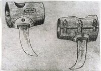 Drawing of Ustasha wrist knives used to quickly kill prisoners