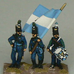 Командование 1-го батальона Егерей.