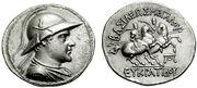 Greko-Bactrian Eukratides 170-145BC tetradrachm
