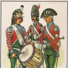 Барабанщик и музыканты легиона.