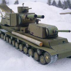 Бумажная модель КВ-6 в масштабе 1:50.