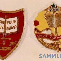 Эмблема школы в Сен-Луи и эмблема, которую курсанты носят на берете.