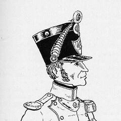 Офицер фузилеров 4-го линейного полка, 1812 г.