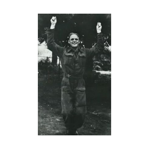 Йозеф Вальчик в британском лагере.