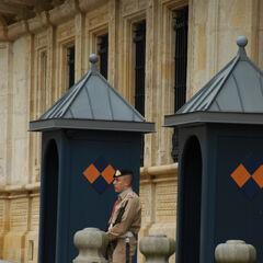 Гвардеец у Дворца великих герцогов, 2007 год.